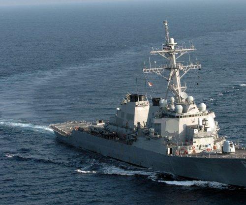 U.S. Navy warships sail through Taiwan Strait