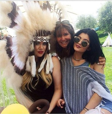 Khloe Kardashian slammed for wearing 'insensitive' headdress to North West's party