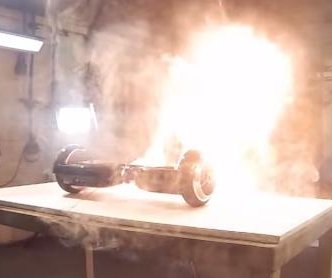 Electronics certification company makes hoverboard burst into flames