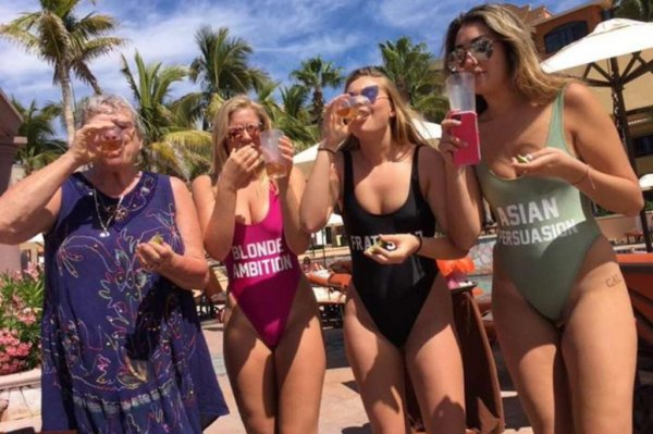 Watch Grandma Does Shots With College Girls On Spring