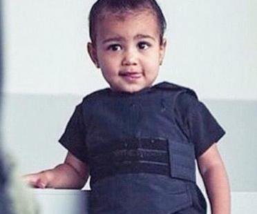 Kim Kardashian shows off North West's bulletproof vest