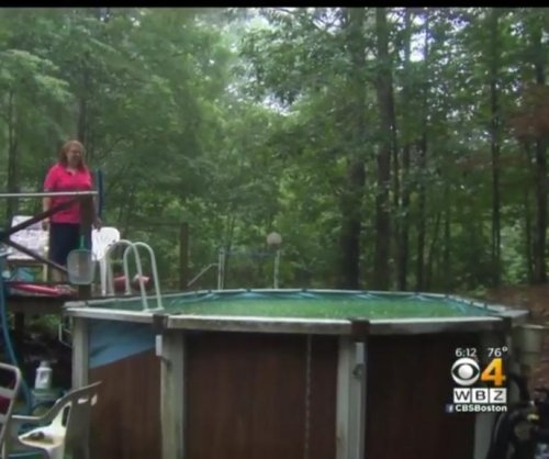 Woman trapped in pool turns to Facebook for help