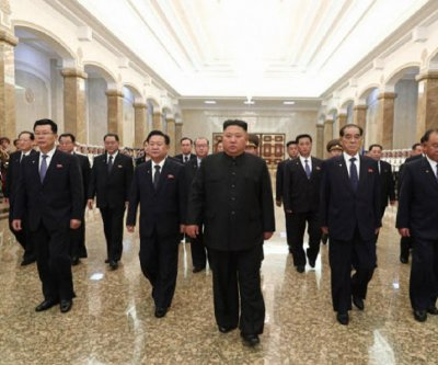 Kim Jong Un appears at memorial for grandfather Kim Il Sung