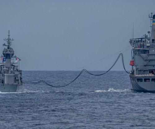 U.S., Australian ships conduct drills in South China Sea
