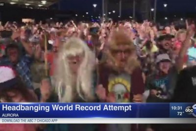 City marks 'Wayne's World' anniversary with headbanging record