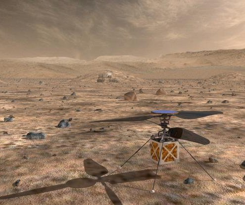 Researchers test helicopter drone that could be used on Mars