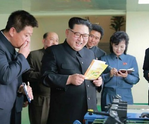 Kim Jong Un visits Dandelion Notebook Factory