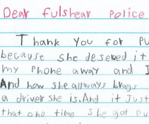 Texas girl thanks police for pulling over mother