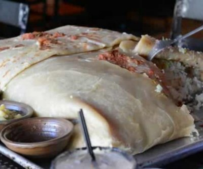 Restaurant offers partial ownership in 30-pound burrito 'challenge'