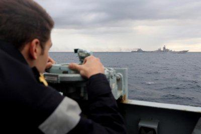 British Royal Navy monitors as Russian war ships pass through English Channel