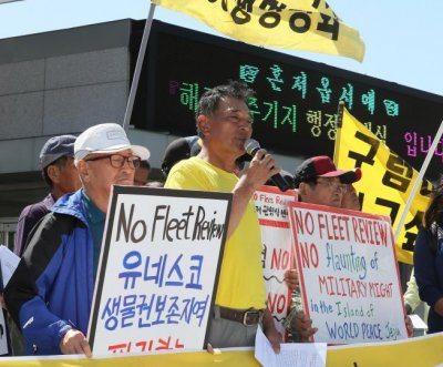 South Korea arrests protester for infiltrating Jeju Naval Base