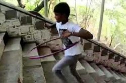 Indian boy, 9, hula-hoops up stairs, breaks Guinness record