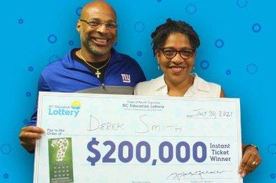 $50 lottery prize leads North Carolina man to $200,000 jackpot