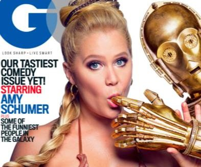 Amy Schumer strikes 'Star Wars' pose on GQ comedy issue cover
