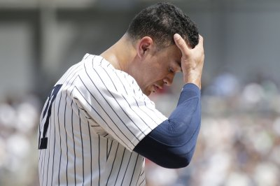 Chicago White Sox infielder strikes out New York Yankees' Giancarlo Stanton