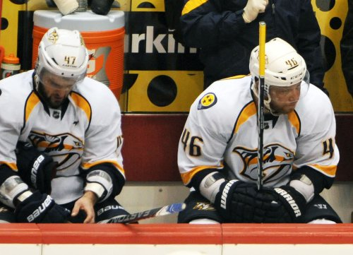 Preds bench Radulov, Kostitsyn for Game 3