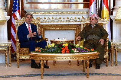Kerry thanks Kurds for stepping in to fight ISIS