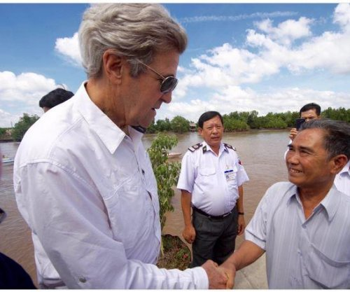 John Kerry visits war site in Vietnam where he killed soldier