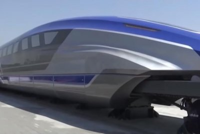 China unveils prototype of high-speed floating train