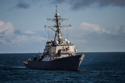 Guided-missile destroyer USS Porter enters Black Sea