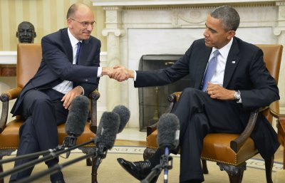 Obama, Italian PM Letta meet in Oval Office