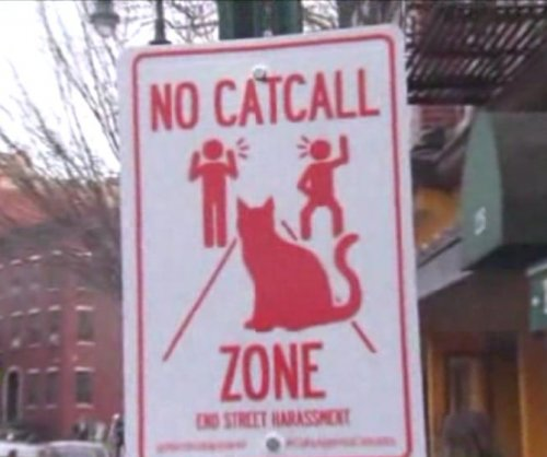 New York signs designate 'No Catcall Zone'