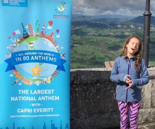 Canadian 11-year-old sang national anthems in record 76 host countries