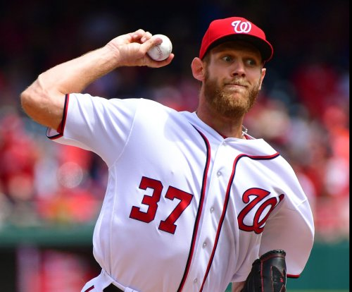 Washington Nationals' Stephen Strasburg hit by comebacker, exits vs. Atlanta Braves