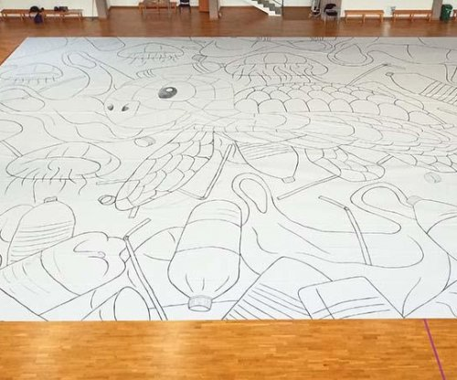 Cyprus teen create's world's largest drawing