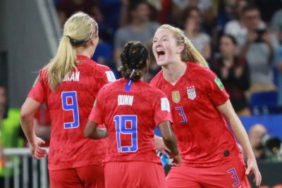 Women's World Cup soccer: USA defeats England 2-1, advances to final