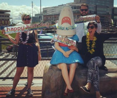 Bizarre 'Shark Girl' sculpture celebrates 'birthday' in Buffalo