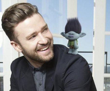 Justin Timberlake reveals image of his 'Trolls' character, Branch