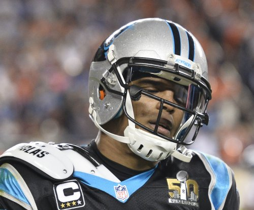 Watch: Cam Newton gets spike denied in volleyball game