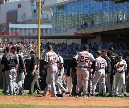 Nicholas Castellanos, Detroit Tigers outlast Minnesota Twins in wild, bench-clearing game