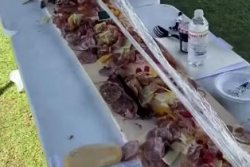 World's longest charcuterie board assembled in New York