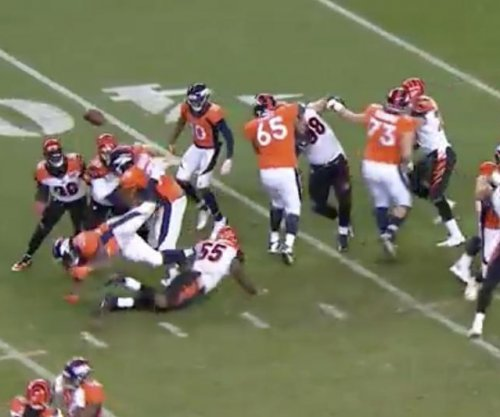 C.J. Anderson: Denver Broncos RB cries after fumble