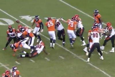 C.J. Anderson: Denver Broncos RB cries after fumble