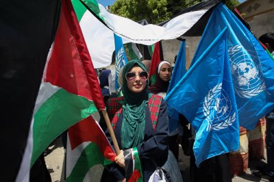 10,000 Palestinians join in Nakba Day protests