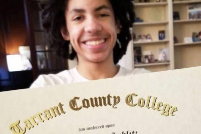Texas boy, 14, graduates from college with associate degree