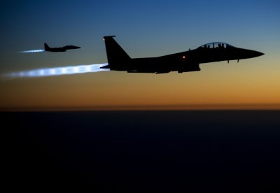 Coalition airstrikes hit Islamic State targets in Syria