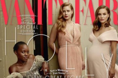 Natalie Portman poses while pregnant for Vanity Fair