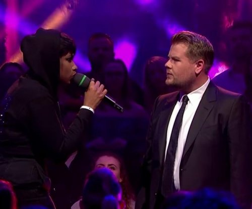 Jennifer Hudson, James Corden have Drop the Mic battle on 'Late Late Show'