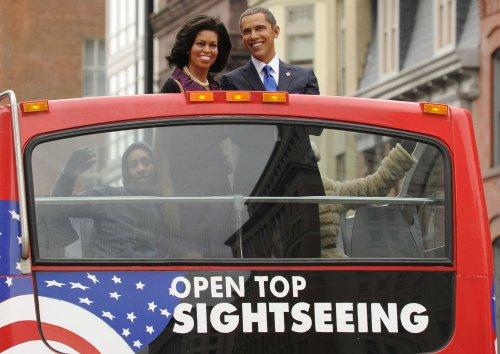 Wax Obamas take inauguration tour