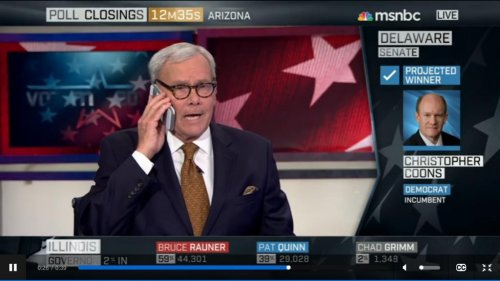 Tom Brokaw's phone goes off in middle of broadcast