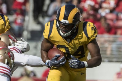 Rams RB Brown nursing clavicle injury