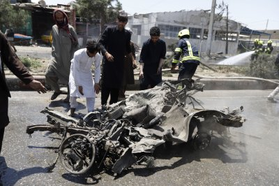 4 dead in Kabul car bomb attack; U.S. troops injured