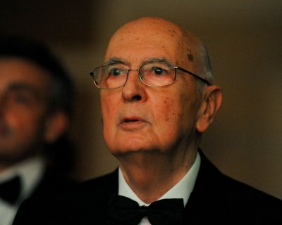 55 percent of Italians say they support President Giorgio Napolitano