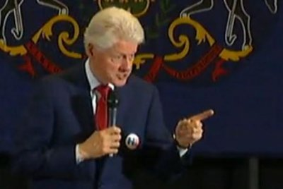 Bill Clinton regretful about shouting match with activists during Philly campaign speech