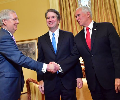 Kavanaugh visits Senate as Democrats lay out bid to block