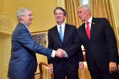 Kavanaugh visits Senate as Democrats lay out bid to block